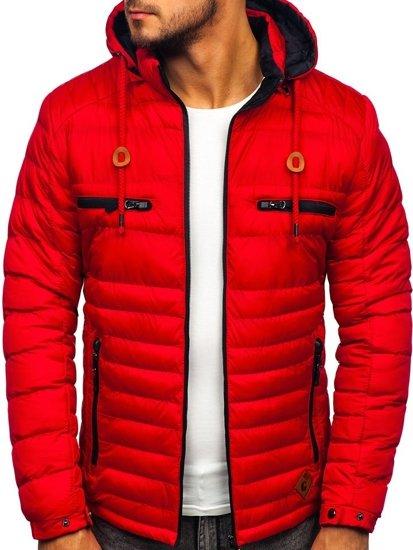 Červená pánská sportovní zimní bunda Bolf 50A94