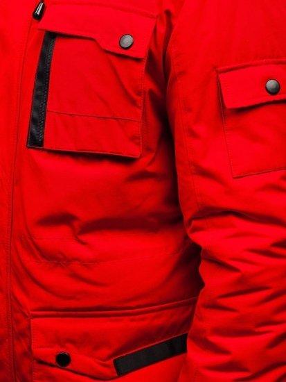 Červená pánská zimní bunda Bolf 201808