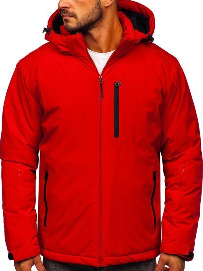 Červená pánská zimní lyžařská sportovní bunda Bolf HH011