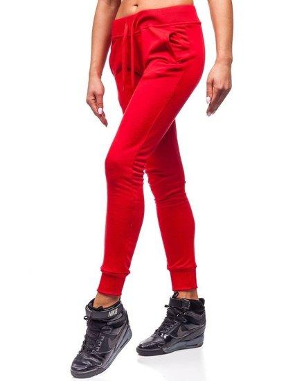 Červené dámské tepláky Bolf WB11003-A