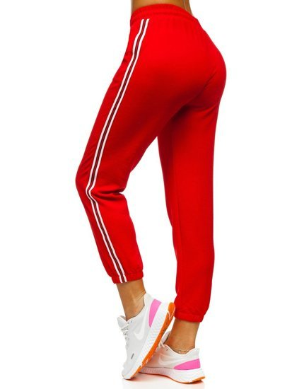 Červené dámské tepláky Bolf YW01020A