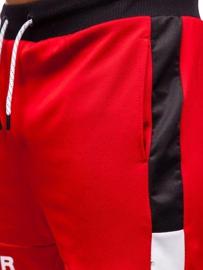 Červené pánské teplákové kraťasy Bolf KK300175