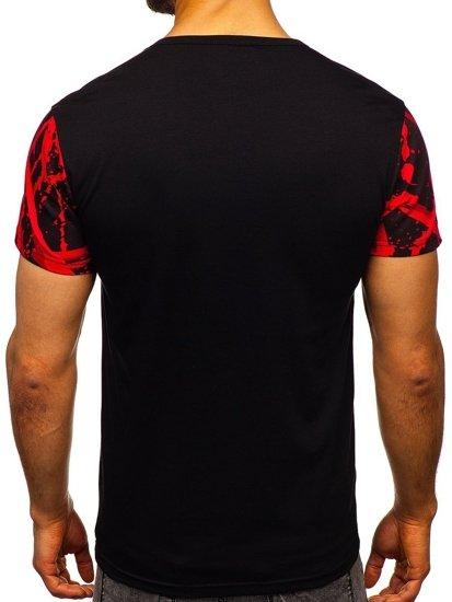 Červené pánské tričko s potiskem Bolf 100788-1