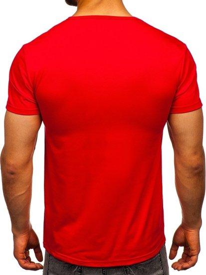 Červené pánské tričko s potiskem Bolf SS10953