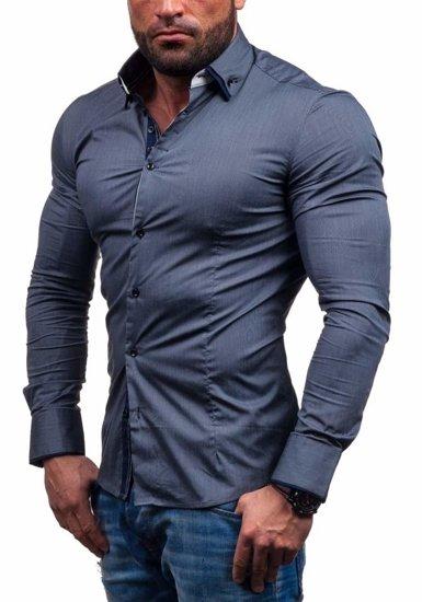 Grafitová pánská košile Bolf 7188
