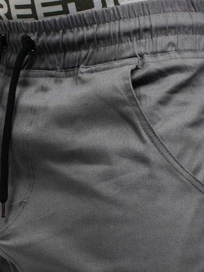 Grafitové pánské baggy kalhoty Bolf 0399