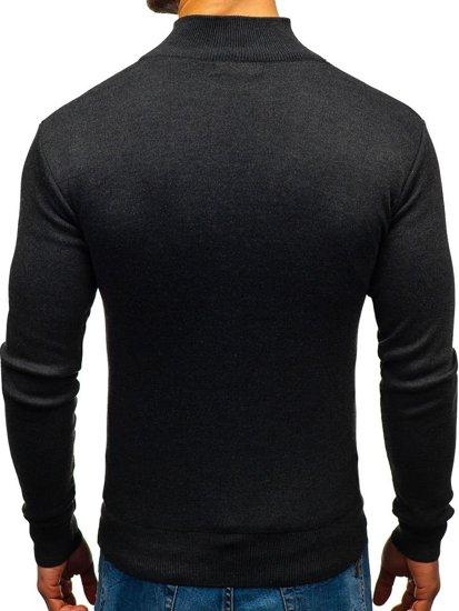 Grafitový pánský svetr Bolf BM6043