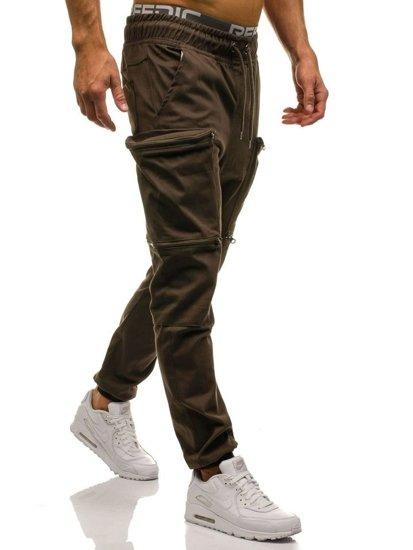 Hnědé pánské jogger kapsáče Bolf 0475