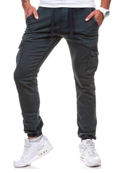 Inkoustově modré pánské kalhoty jogger Bolf 813