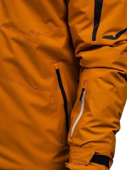 Kamelová pánská zimní lyžářská bunda Bolf 5941