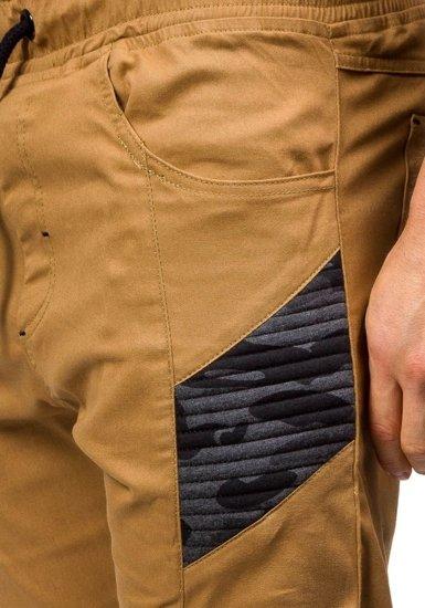 Kamelové pánské jogger kalhoty Bolf 0706