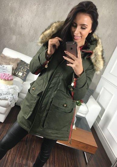 Khaki dámská zimní bunda Bolf 1968