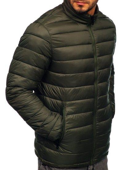 Khaki pánská prošívaná zimní bunda Bolf 1119