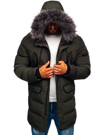 Khaki pánská zimní parka Bolf 1091