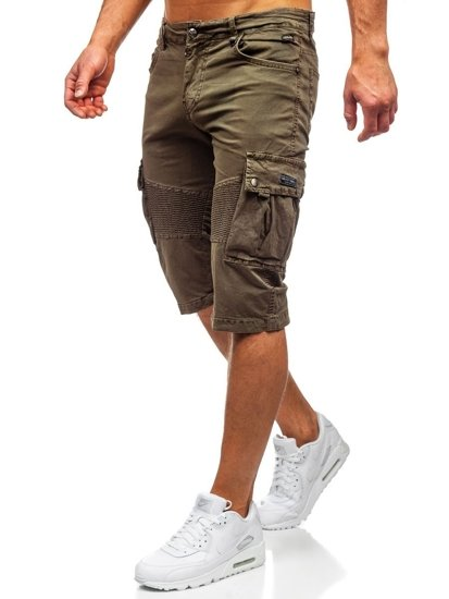 Khaki pánské kapsáčové kraťasy Bolf QS806