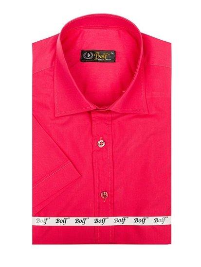 Korálová pánská elegantní košile s krátkým rukávem Bolf 7501