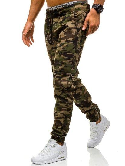 Maskáčovo-zelené pánské jogger kapsáče Bolf 0858