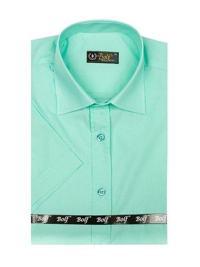 Mátová pánská elegantní košile s krátkým rukávem Bolf 7501