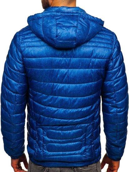Modrá pánská prošívaná sportovní zimní bunda Bolf 50A411