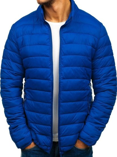 Modrá pánská sportovní přechodová bunda Bolf LY08