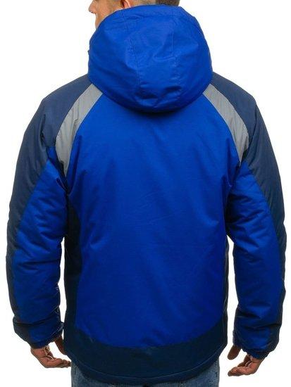 Modrá pánská zimní lyžářská bunda Bolf F809