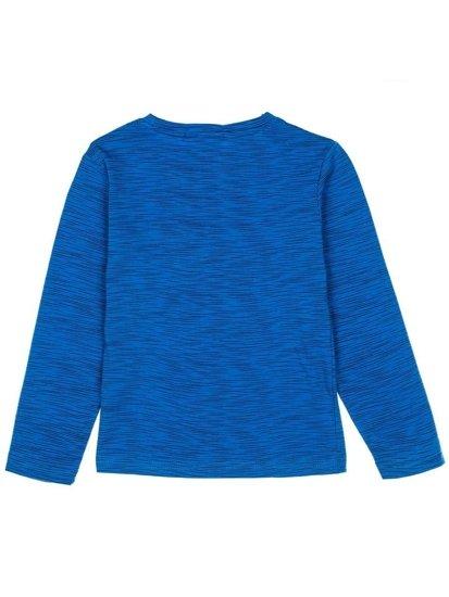 Modré chlapecké tričko s dlouhými rukávy a potiskem Bolf HB1893