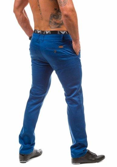 Modré pánské chino kalhoty Bolf 1562