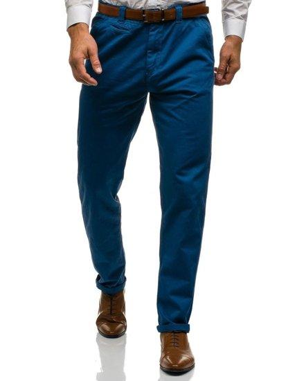 Modré pánské chino kalhoty Bolf 6191