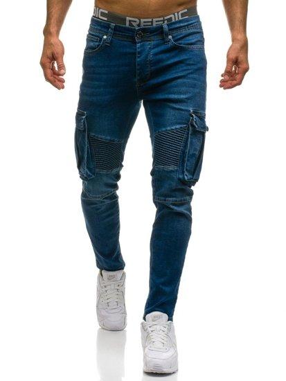 Modré pánské džínové kapsáče Bolf 524