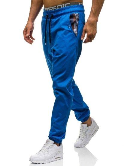Modré pánské jogger kalhoty Bolf 0449