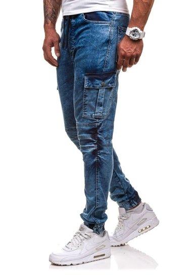 Modré pánské jogger kapsáče Bolf 4257