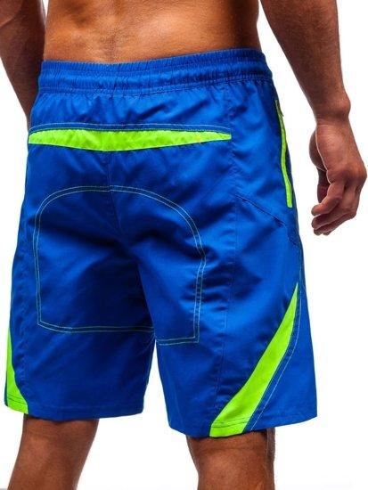 Modré pánské koupací šortky Bolf 306