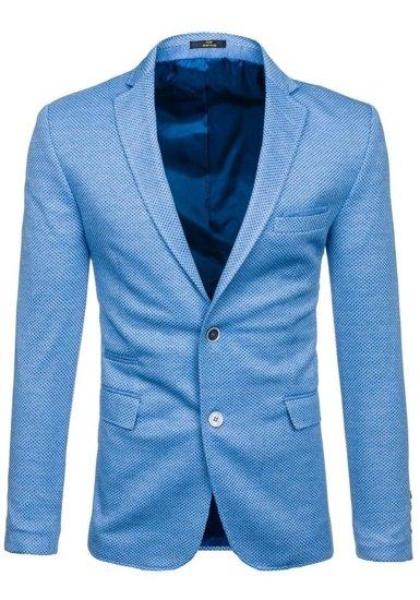 Modré pánské sako casual Bolf RBR152