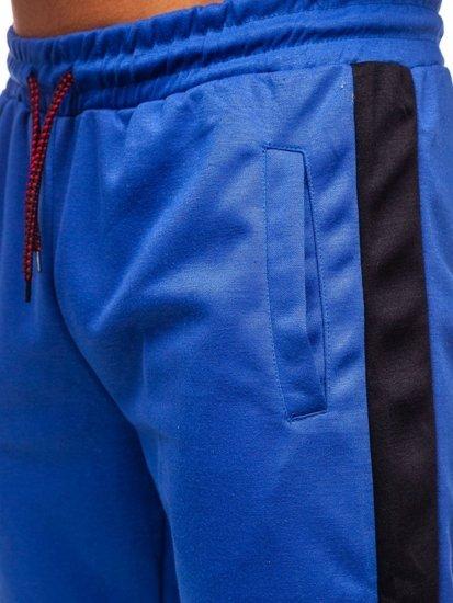 Modro-černé pánské tepláky Bolf JZ11005