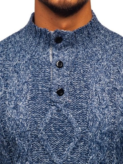 Modrý pánský svetr Bolf P088