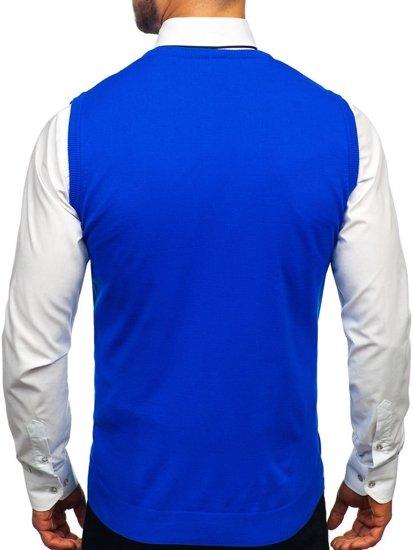 Modrý pánský svetr bez rukávů Bolf 2500