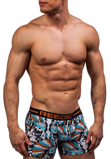 Oranžové pánské boxerky Bolf X203