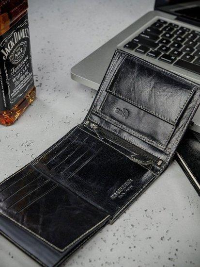 Pánská černá kožená peněženka 3210