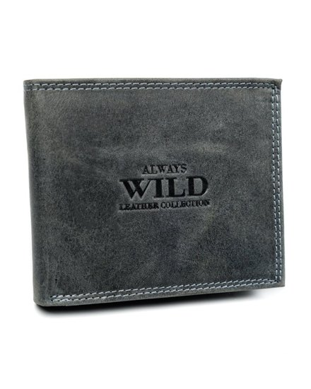 Pánská černá kožená peněženka 6350