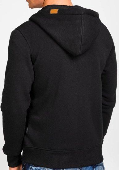Pánská černá mikina s kapucí Bolf 3657