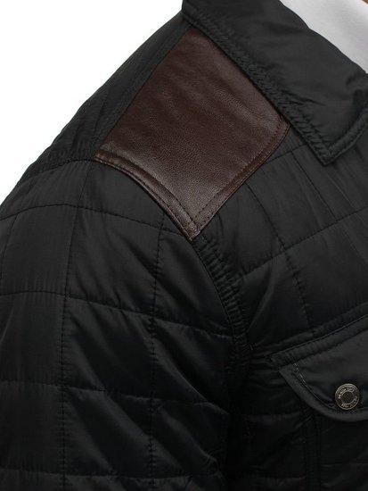 Pánská černá přechodná bunda Bolf 7668