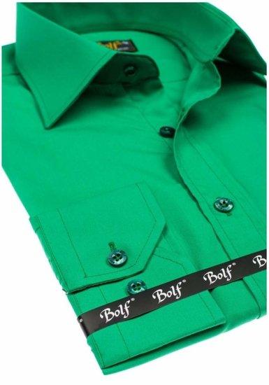Pánská košile BOLF 1703 zelená