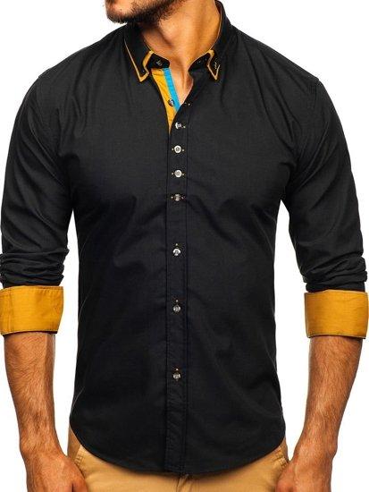 Pánská košile BOLF 3708 černá