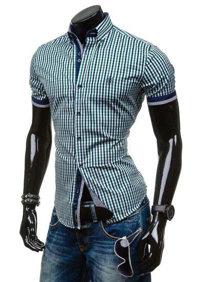 Pánská košile BOLF 4510 zelená