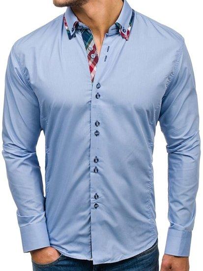 Pánská košile BOLF 4704 blankytná