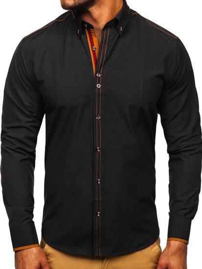 Pánská košile BOLF 4707 černá