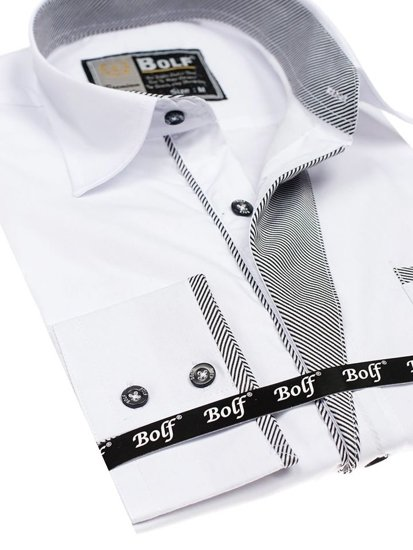 Pánská košile BOLF 4713 bílá