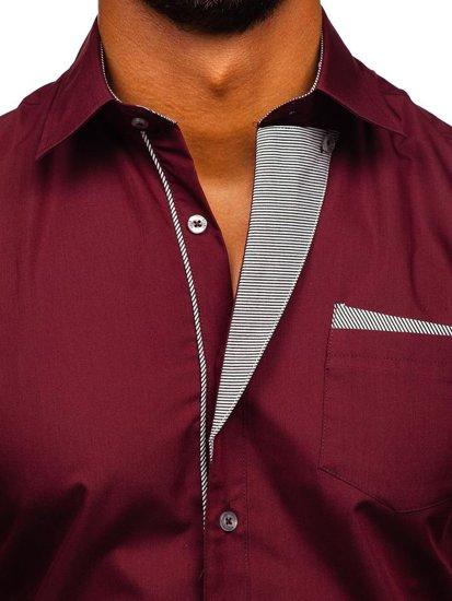 Pánská košile BOLF 4713 bordová