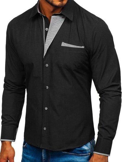Pánská košile BOLF 4713 černá