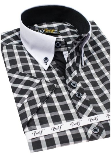 Pánská košile BOLF 5531 černá